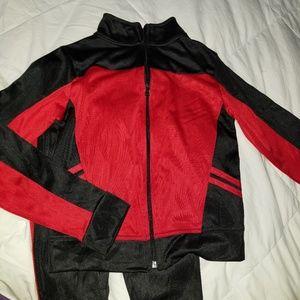 Street Line Red & Black Boys Sweatsuit